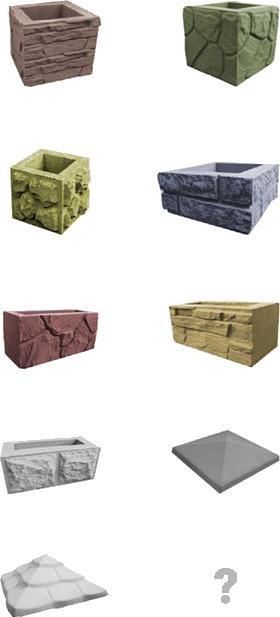 виды декоративных блоков