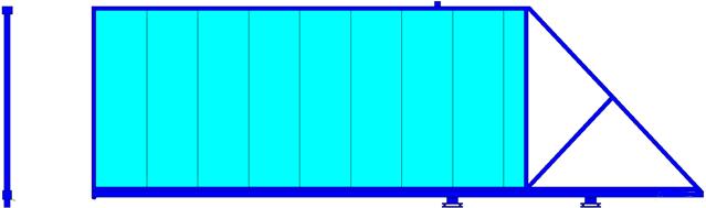 ворота откатные с сендвич панелями
